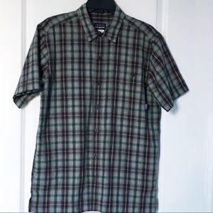 Patagonia Plaid Seersucker Shirt Short Sleeve
